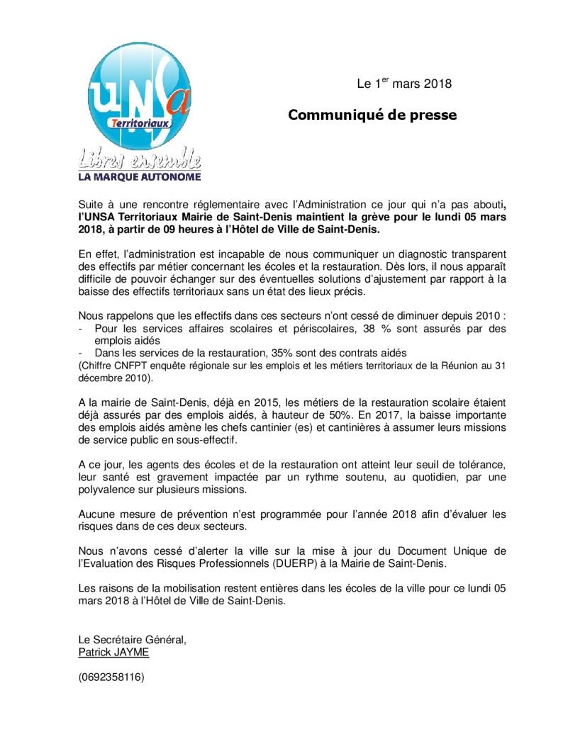 communiqué presse greve du 05 mars 2018-001